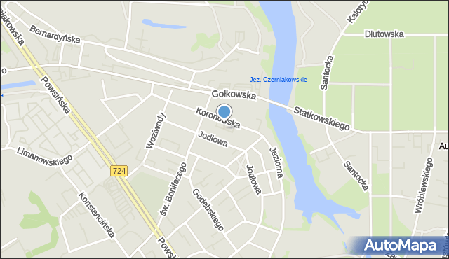 Warszawa, Juraty, mapa Warszawy