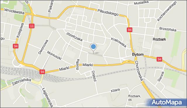 Bytom, Katowicka, mapa Bytomia