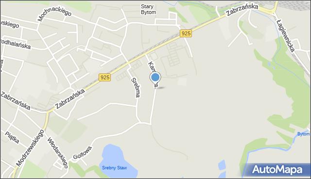Bytom, Kamienna, mapa Bytomia
