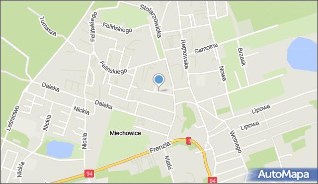 Bytom, Kasztanowa, mapa Bytomia