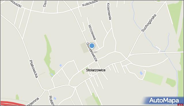 Bytom, Kaczmarczyków, mapa Bytomia