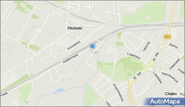 Chełm, Kąpieliskowa, mapa Chełma