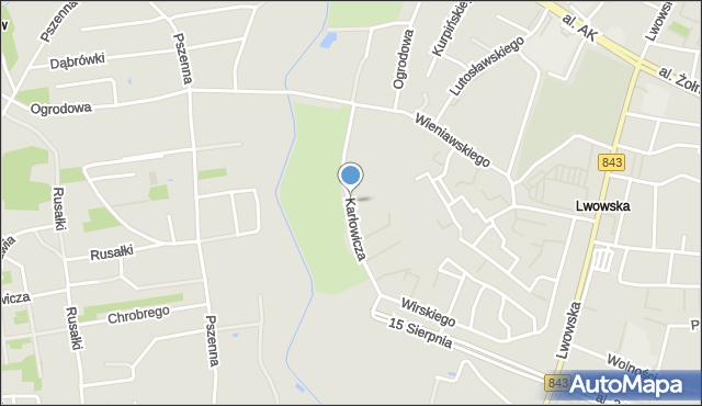 Chełm, Karłowicza Mieczysława, mapa Chełma
