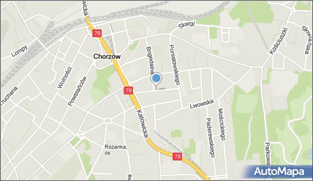 Chorzów, Karpińskiego Franciszka, mapa Chorzów