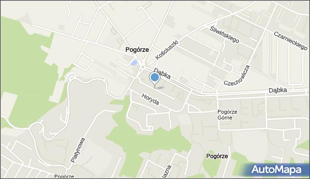 Gdynia, Kasztelana A., kpt., mapa Gdyni