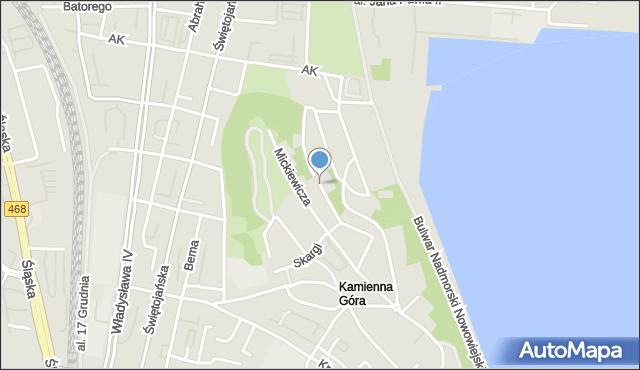 Gdynia, Kasprowicza Jana, mapa Gdyni