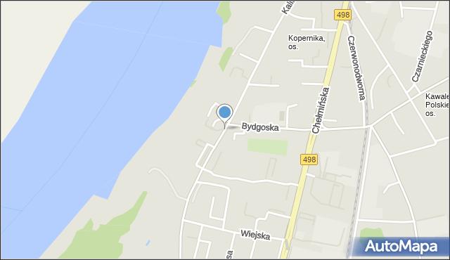 Grudziądz, Kalinkowa, mapa Grudziądza