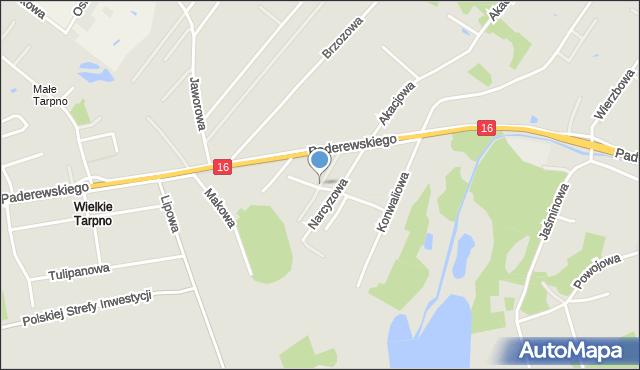 Grudziądz, Kaliowa, mapa Grudziądza