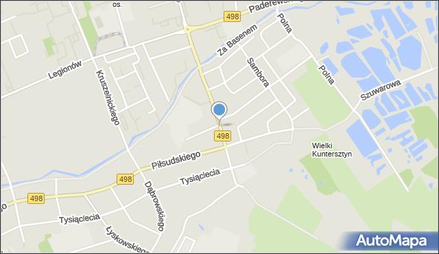 Grudziądz, Karabinierów, mapa Grudziądza