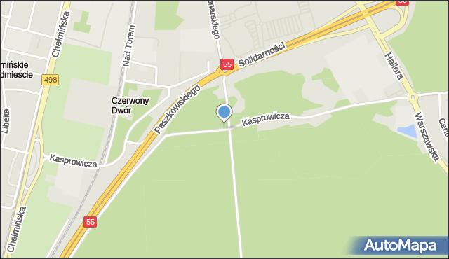 Grudziądz, Kasprowicza Jana, mapa Grudziądza