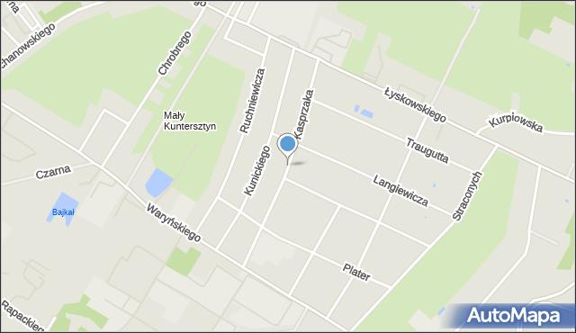 Grudziądz, Kasprzaka, mapa Grudziądza