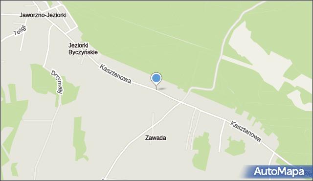 Jaworzno, Kasztanowa, mapa Jaworzno
