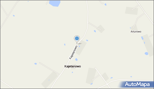 Kajetanowo gmina Koneck, Kajetanowo, mapa Kajetanowo gmina Koneck