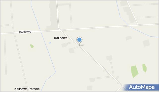 Kalinowo gmina Ostrów Mazowiecka, Kalinowo, mapa Kalinowo gmina Ostrów Mazowiecka