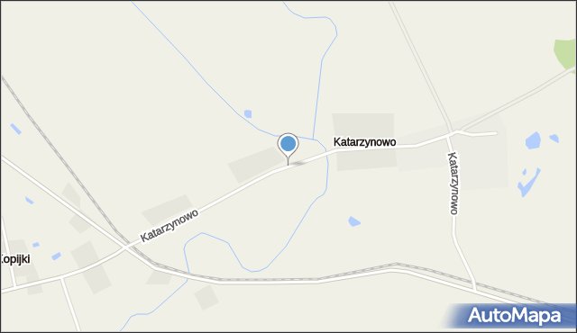 Katarzynowo gmina Prostki, Katarzynowo, mapa Katarzynowo gmina Prostki