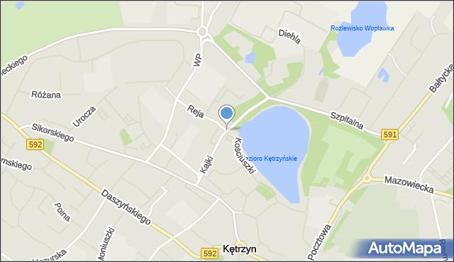 Kętrzyn, Kajki Michała, mapa Kętrzyn
