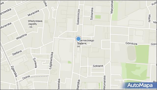 Łódź, Kaletnicza, mapa Łodzi