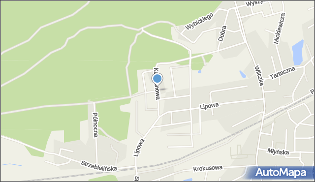 Luzino, Kasztanowa, mapa Luzino