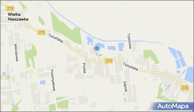 Mała Nieszawka, Kalinowa, mapa Mała Nieszawka
