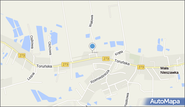 Mała Nieszawka, Kanałowa, mapa Mała Nieszawka