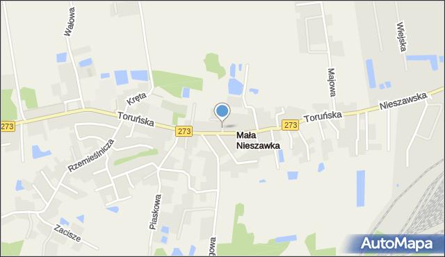 Mała Nieszawka, Kasztanowa, mapa Mała Nieszawka