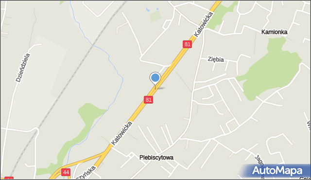 Mikołów, Katowicka, mapa Mikołów