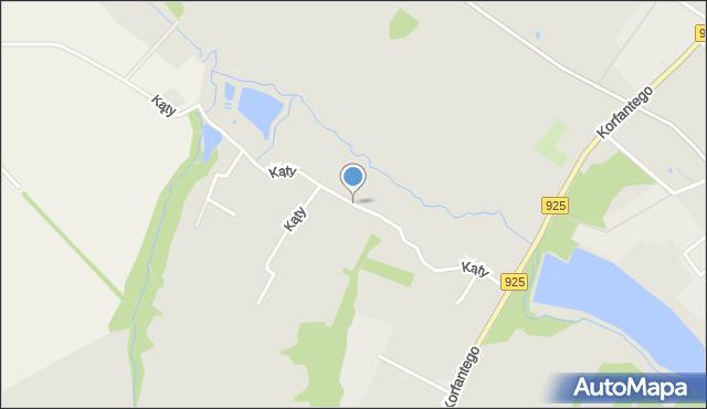 Mikołów, Kąty, mapa Mikołów