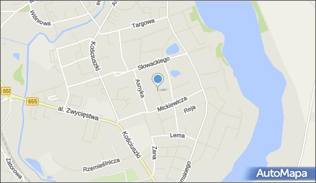 Olecko, Kajki Michała, mapa Olecko