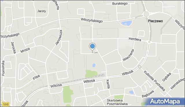 Olsztyn, Kanta Immanuela, mapa Olsztyna