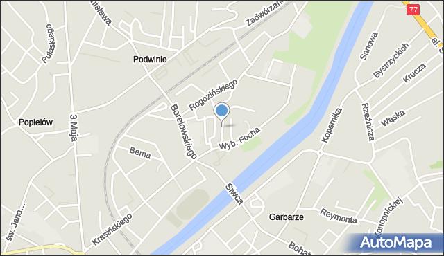 Przemyśl, Kadłubka Wincentego, bp., mapa Przemyśla