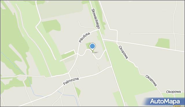 Przemyśl, Kasztanowa, mapa Przemyśla