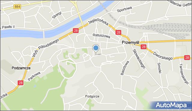 Przemyśl, Katedralna, mapa Przemyśla