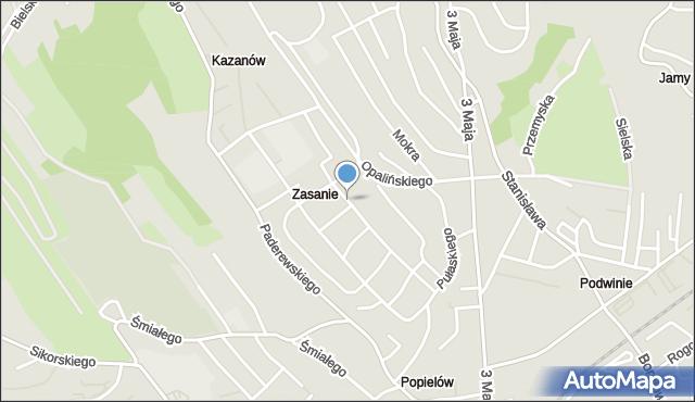 Przemyśl, Kazanowska, mapa Przemyśla
