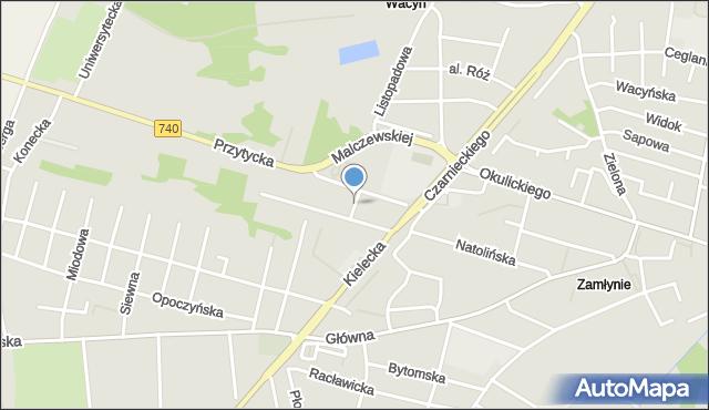 Radom, Kacza, mapa Radomia