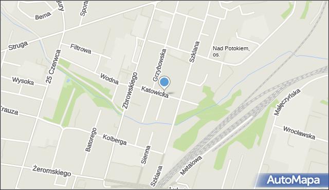 Radom, Katowicka, mapa Radomia