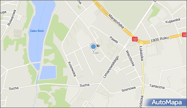 Radom, Kamienna, mapa Radomia