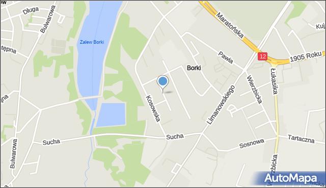 Radom, Kasztanowa, mapa Radomia