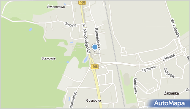Sopot, Kasztanowa, mapa Sopotu