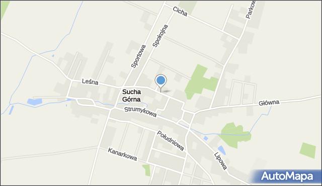 Sucha Górna, Kasztanowa, mapa Sucha Górna