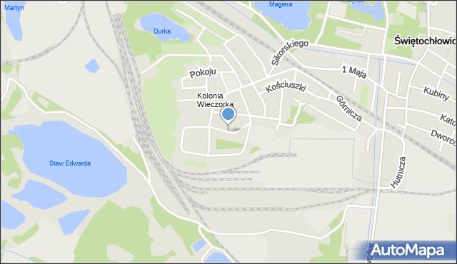 Świętochłowice, Kasprzaka Marcina, mapa Świętochłowice