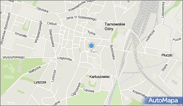 Tarnowskie Góry, Kaczyniec, mapa Tarnowskie Góry