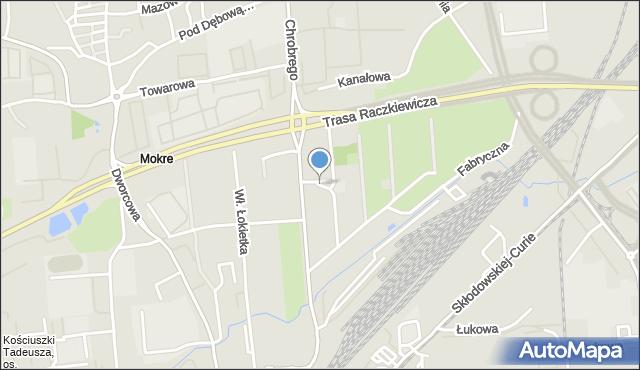 Toruń, Kałamarskiego Pawła, mapa Torunia