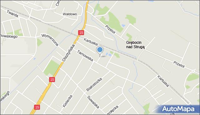 Toruń, Kaliska, mapa Torunia