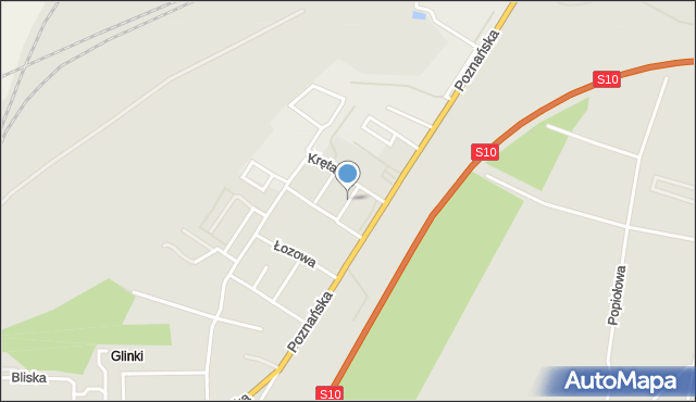 Toruń, Kameralna, mapa Torunia