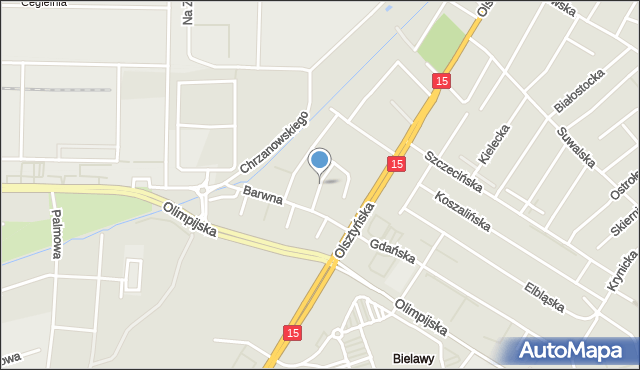 Toruń, Karolinki, mapa Torunia