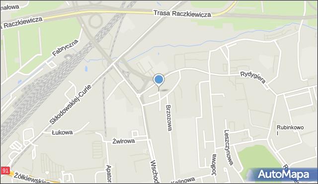 Toruń, Kasztanowa, mapa Torunia