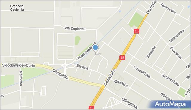 Toruń, Katarzynki, mapa Torunia