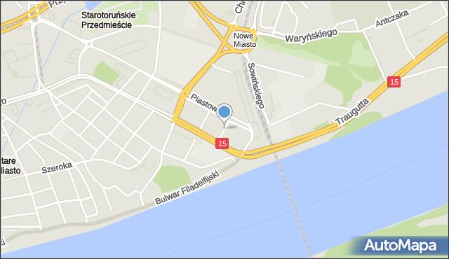 Toruń, Kazimierza Jagiellończyka, mapa Torunia