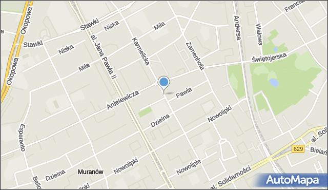 Warszawa, Karmelicka, mapa Warszawy