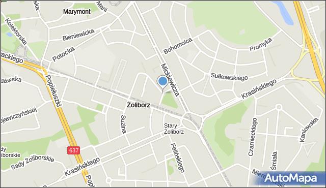 Warszawa, Kątowa, mapa Warszawy